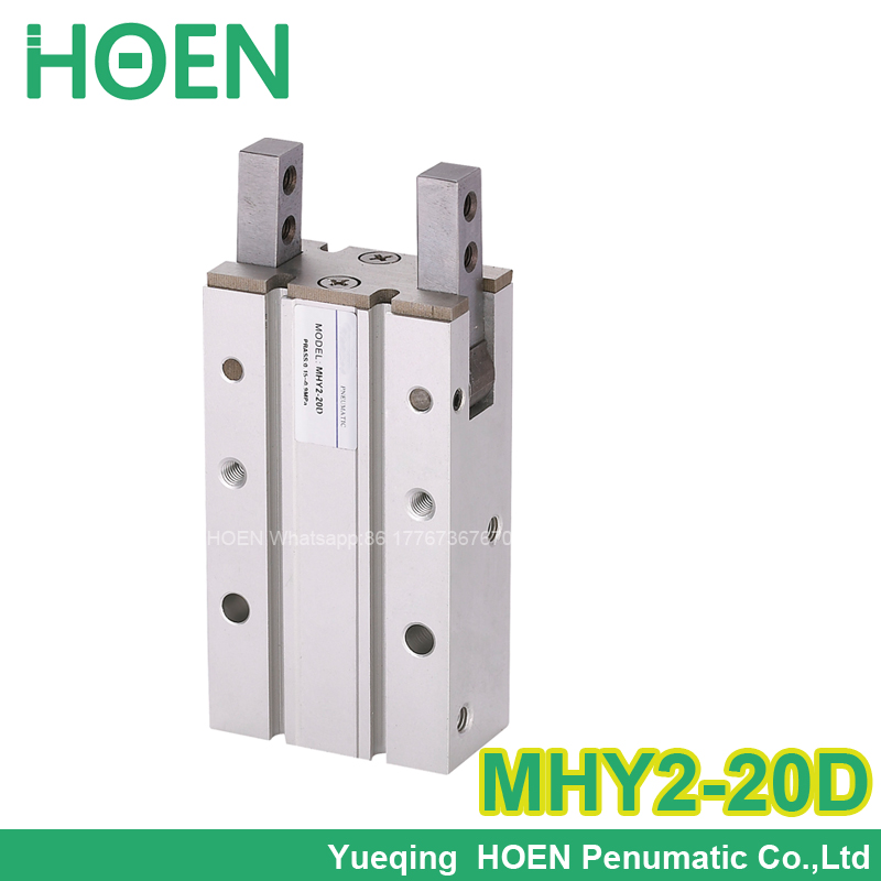 MHY2 series Double Acting Pneumatic Gripper MHY2-20D SMC type Aluminium Clamps 180 Angular Air Gripper Cylinder MHY2-20D2 high quality double acting pneumatic robot gripper air cylinder mhc2 25d smc type angular style aluminium clamps