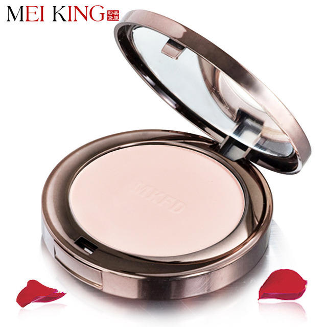 MEIKING Natural Fix Powder Oil Control Lasting Face Finishing Whitening Makeup Brighten Foundation Rose Plant Powder Concealer