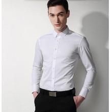 high quality  men shirt men wedding shirt classic white Cultivate one's morality  formal shirt business shirt long sleeve