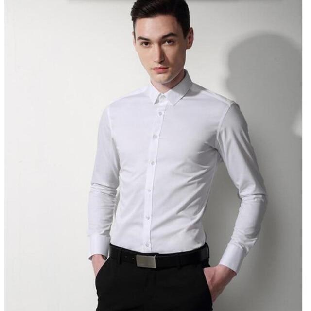 8e94229bbe5 high quality men shirt men wedding shirt classic white Cultivate one s  morality formal shirt business shirt long sleeve