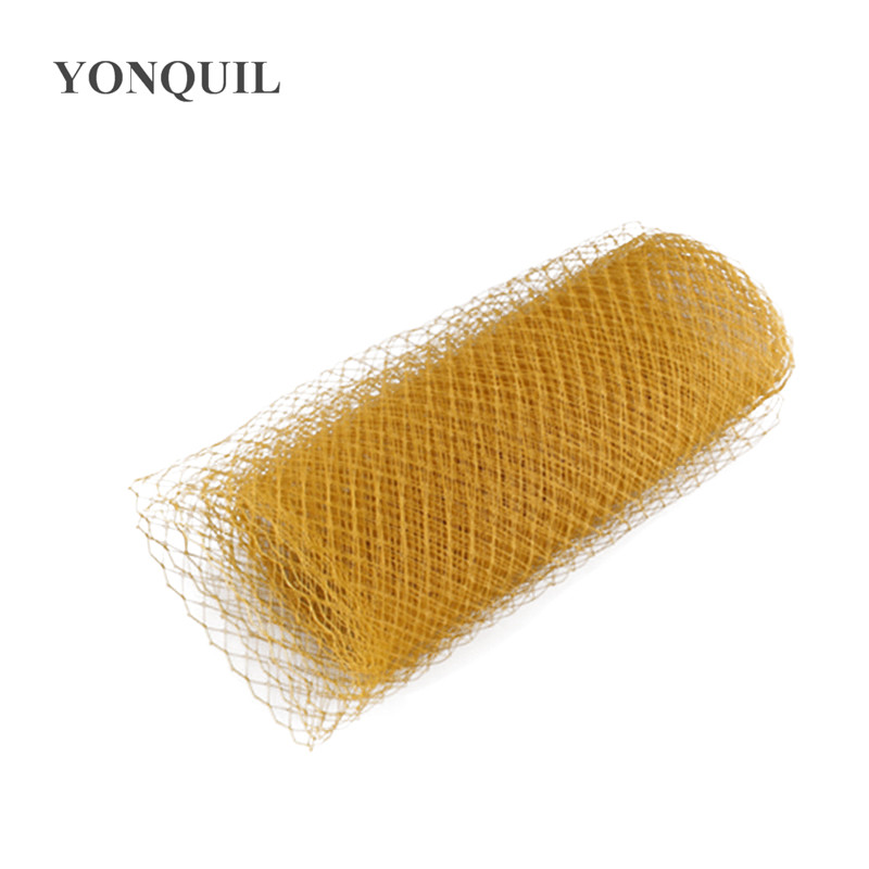 Gold Or  Multiple Colors Avaliable 25cm Birdcage Veiling Millinery Hat Veil DIY Hair Accessories Fascinator Veils10yard/lot