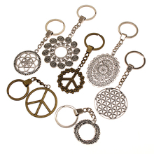 Flower Of Life Pendant Charms Keychain To Girlfriend Gift For DIY Handmade Gifts Key Chain