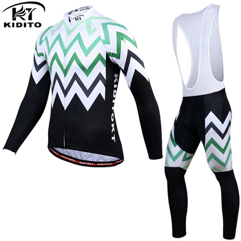KIDITOKT Winter Mountain Bicycle Cycling Clothing Suit Thermal Cycling Jersey Set Keep Warm MTB Bike Cycling Clothes For Men