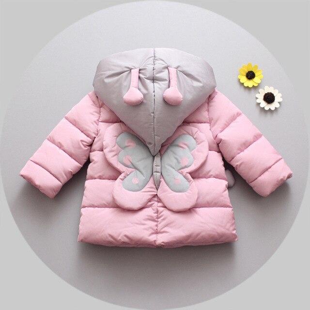 2016new осень зима хлопок девочка толще Корейский мультфильм хлопок одежда 1-4 лет дети девушки куртка бесплатная доставка