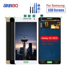 شاشات LCD لسامسونج غالاكسي A5 2015 LCD A500 عرض تعمل باللمس محول الأرقام الاستشعار الزجاج الجمعية يمكن ضبط A500 A500F A500FU A500H + أدوات