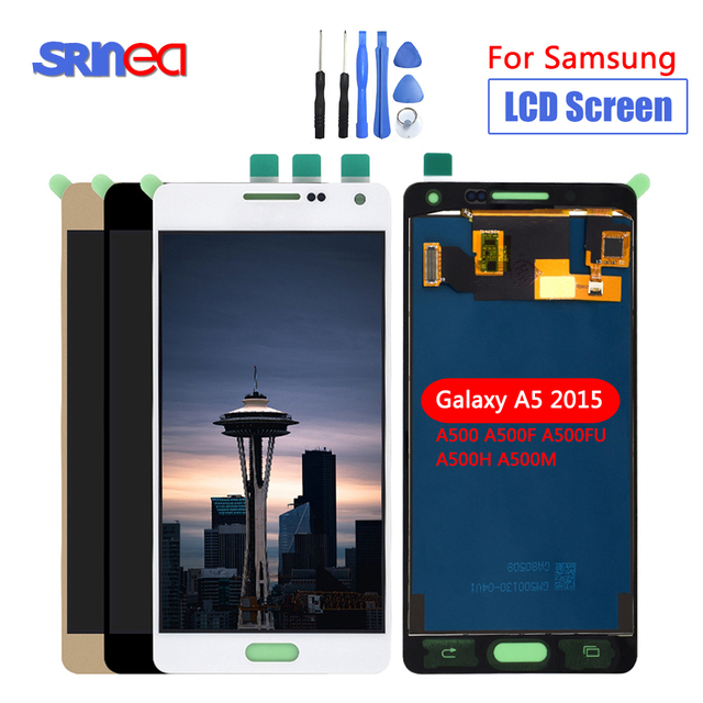 LCD For Samsung Galaxy A5 2015 LCD A500 Display Touch Digitizer Sensor Glass Assembly Can Adjust A500 A500F A500FU A500H + Tools