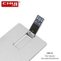 High Speed USB 3 0 Flash Drive 8GB 16GB 32GB Metal Silver Credit Card Bank Card