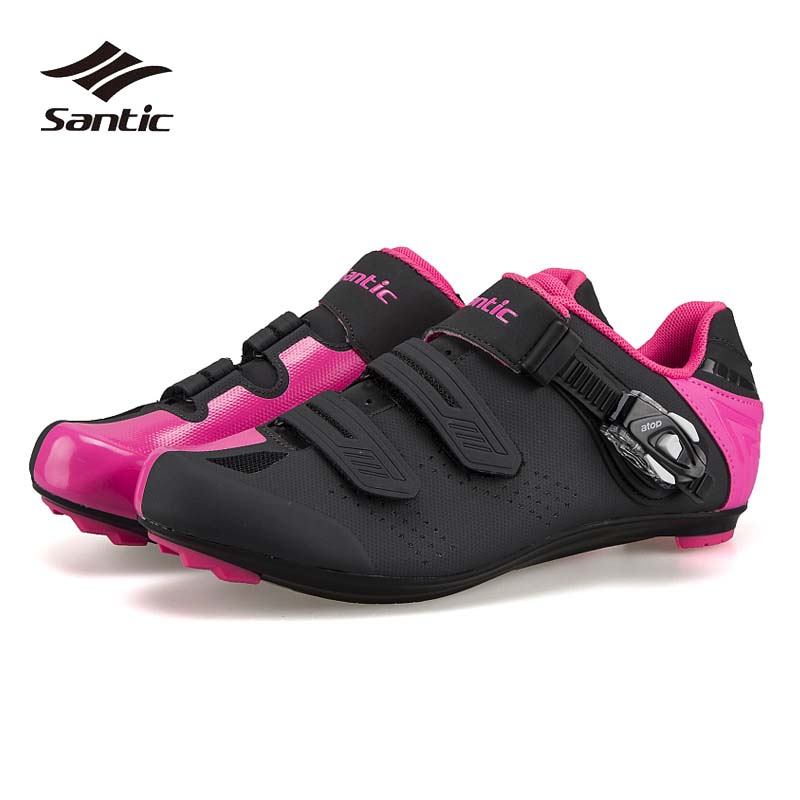2018 Santic Cycling Shoes Road Self-Locking Bike Shoes Women Men TPU wear-resistant Zapatillas Ciclismo Pro Racing Bicycle Shoes bandage vintage beach wear one piece swimsuit women backless trikini deep v neck monokini triquini sexy bathing suit page 8