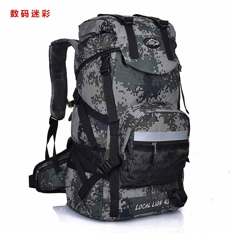 Professionla Outdoor Backpack Waterproof Nylon 45L Large Capacity Mountaineering Camping Hiking Rucksack Travel Bags
