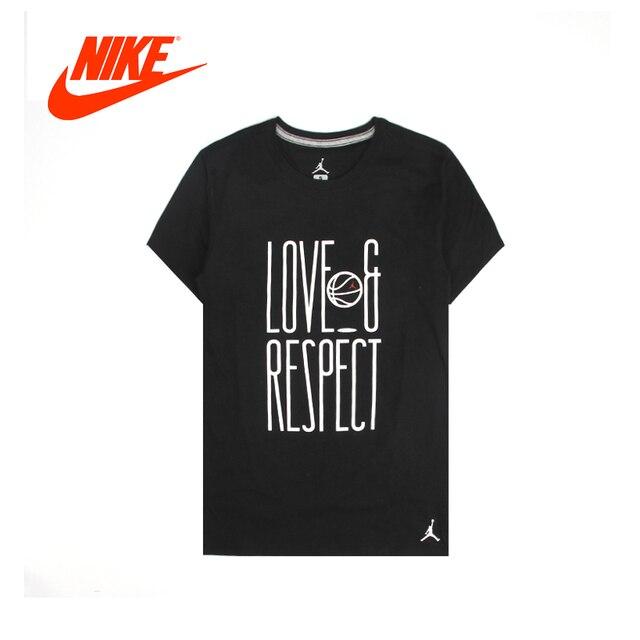 b491c2869509 Original NIKE Air Jordan 13 Men s T-shirts Short Sleeve Male Black Leisure  New Arrival Authentic Sportswear Breathable Quick Dry