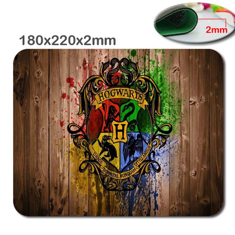 Hızlı profesyonel özel Harry Potter Hogwarts Logo Dikdörtgen Kaymaz Kauçuk MousePad Bilgisayar Mouse pad mfor ev ve ofis