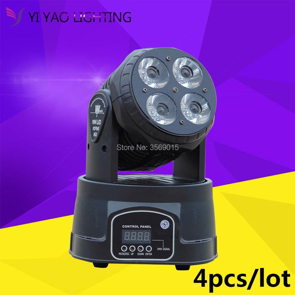 4pcs/lot LED Moving Head Wash 4x20w RGBW Quad with advancedDJ DMX Stage Lighting4pcs/lot LED Moving Head Wash 4x20w RGBW Quad with advancedDJ DMX Stage Lighting
