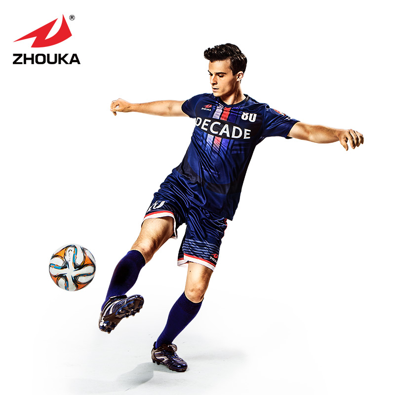 Design V-collar football jersey Custom Soccer jersey full sublimation print personalize soccer tracksuit fcamisa s de futebol