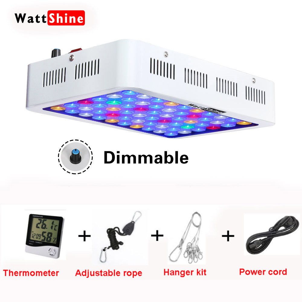 Aquarium Licht 180w Dimmable LED Aquarium Lichter Korallenlampe für Marine Aquarium Dimmer Professionelle Fish & Aquatic Beleuchtung