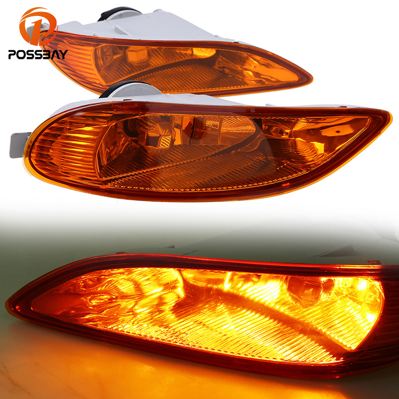 POSSBAY 12V 55W Car Fog Light Fit for 2005-2008 Toyota Corolla S/XRS Models Facelift Halogen Lamps Amber Lights air intake aluminium pipe kit for toyota corolla 1 6 1 8 2 0 rumion of rh drive noah pls contact for other car models