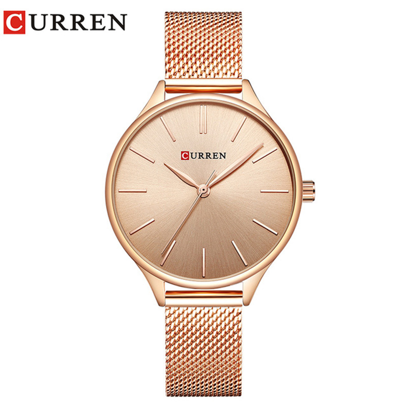 CURREN Watch Women Fashion Quartz Wrist Watches Female Creative Dial Design Ladies Dress Clock Gift Relogio Feminino 9024