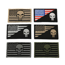 Army Embroidered Patch Punisher Punisher Skull Embroidery Patch Badge Military Tactics Set Backpack Badge Bandage Stitched Decal(China)