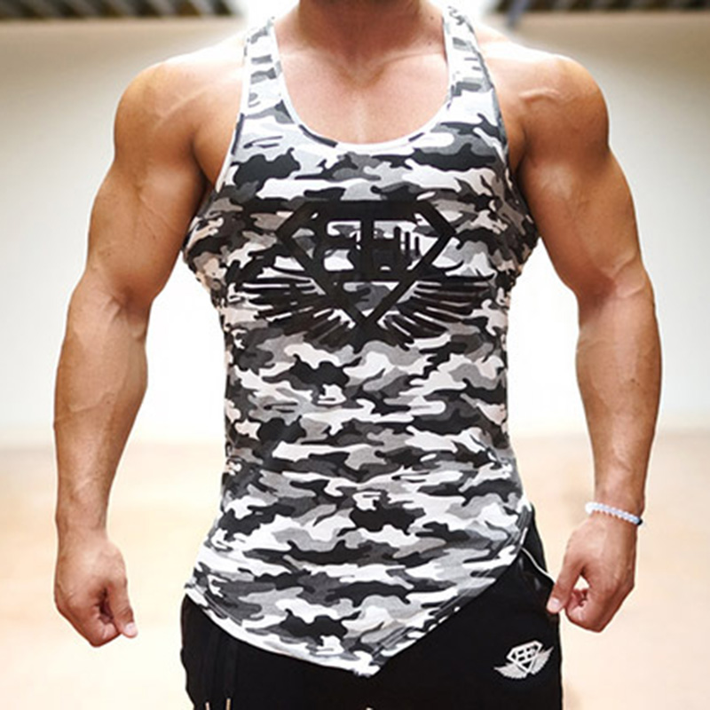 EEHCM Singlets Mens Tank Tops Military Style Camouflage Men Vest Sexy Camouflage Men's Gyms Clothing