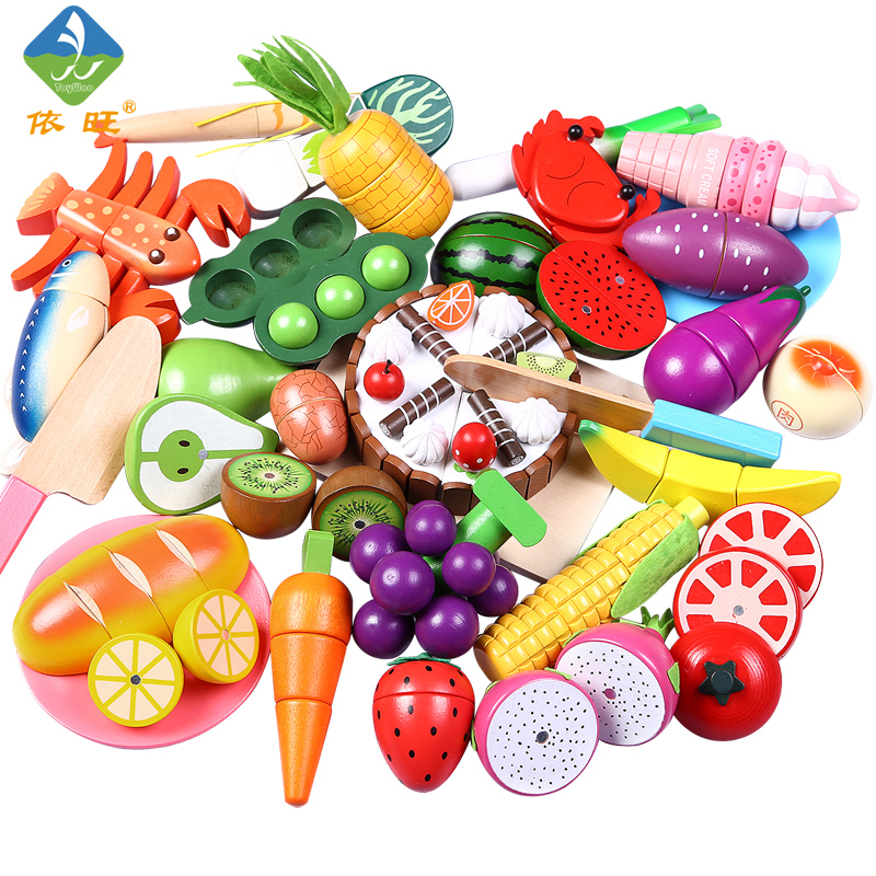 Toywoo Cutting Toys Kitchen font b Food b font Toys Fruit Fish Vegetable Blocks Children Lovely