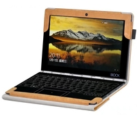 Brown PU Leather Case Cover For Lenovo Yoga Book Tablet 10 1 Inch Can Put Keyboard