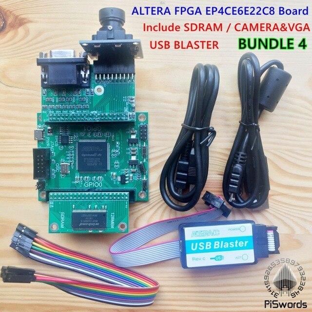 US $18 0 |ALTERA FPGA development core board CYCLONE IV EP4CE EP4CE6E22C8N  board with USB Blaster programmer 128M SDRAM CAMERA VGA SDK SCH-in Demo