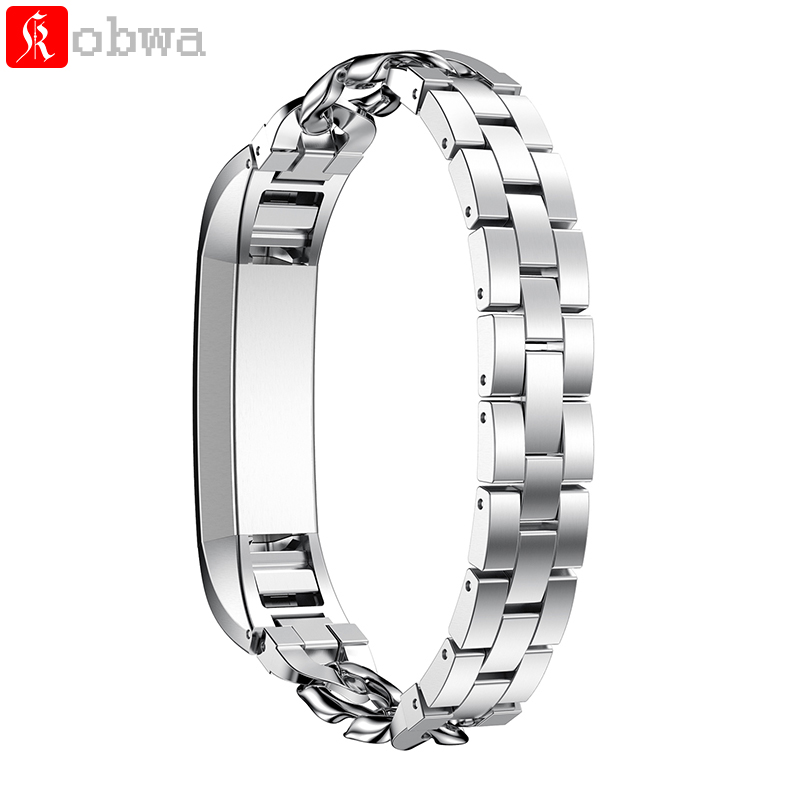 Stainless Steel Wrist Strap For Fitbit Alta HR Replacement Watch Bands Wearable Devices Accessories Metal Watchbands Chain Style