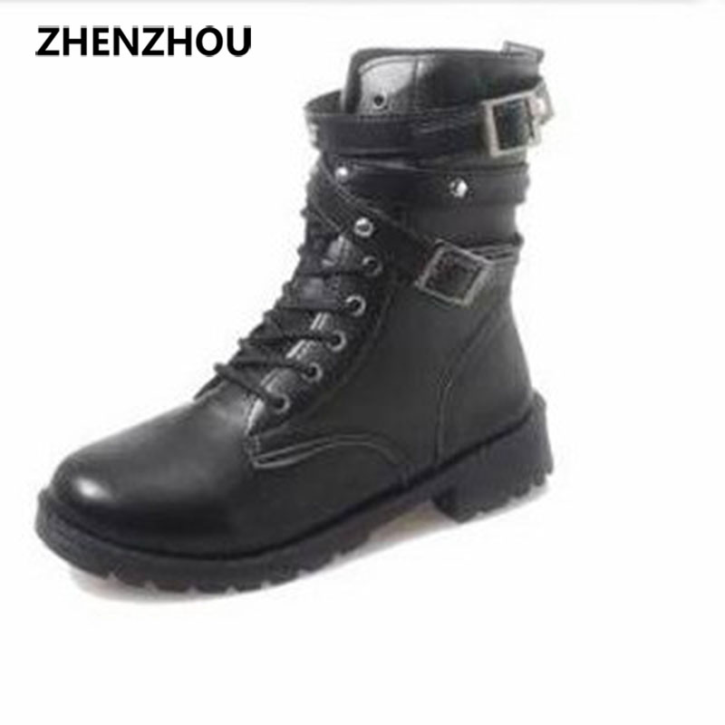 New short boots Martin boots female British wind flat with a belt buckle a single boots black short boots women 's shoes полка для обуви мастер лана 2 пол 2 1с 1п бук мст пол 1с 1п бк 16