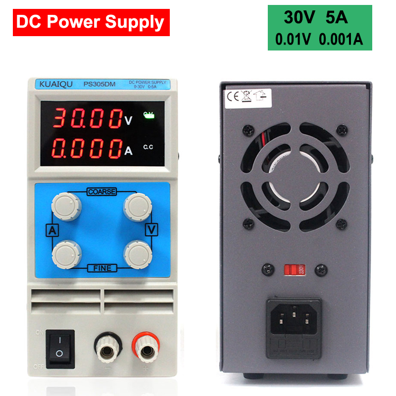 PS-305DM Mini Adjustable Digital DC power supply, 0~30V 0~5A, 110V/220V Switching Power supply 0.01V/0.001A US/EU/AU Plug Option 0 30v 0 20a output brand new digital adjustable high power switching dc power supply variable 220v