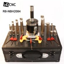 BT40 NT40 SK40 R8 MT5 MT4 MT3 NBH2084 Boring Head System +8pcs 20mm Bar rang 8-280mm Tool Set