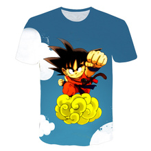 New Dragon Ball T-shirts Mens Summer 3D Printing Super Saiyan God Blue Son Goku Black Dragonball Casual T Shirt Top