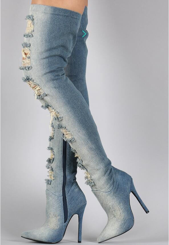 Compare Prices on Blue Thigh High Boots- Online Shopping/Buy Low ...