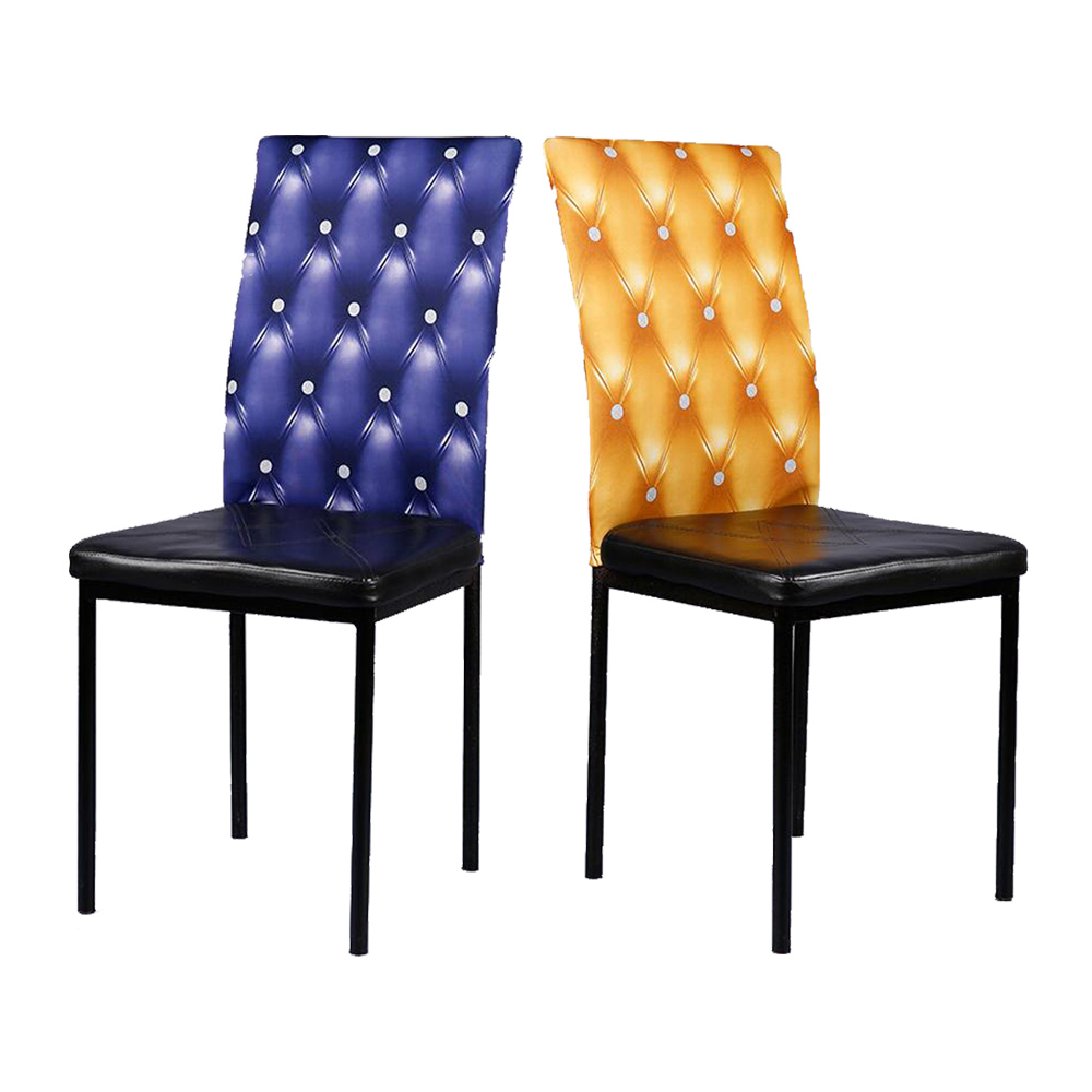 Cheap 1PC Blue/Yellow/Coffe 7 Colors Removable Stretch Spandex Dining Chair Back Decoration Cushion For Home Kids Room Decor