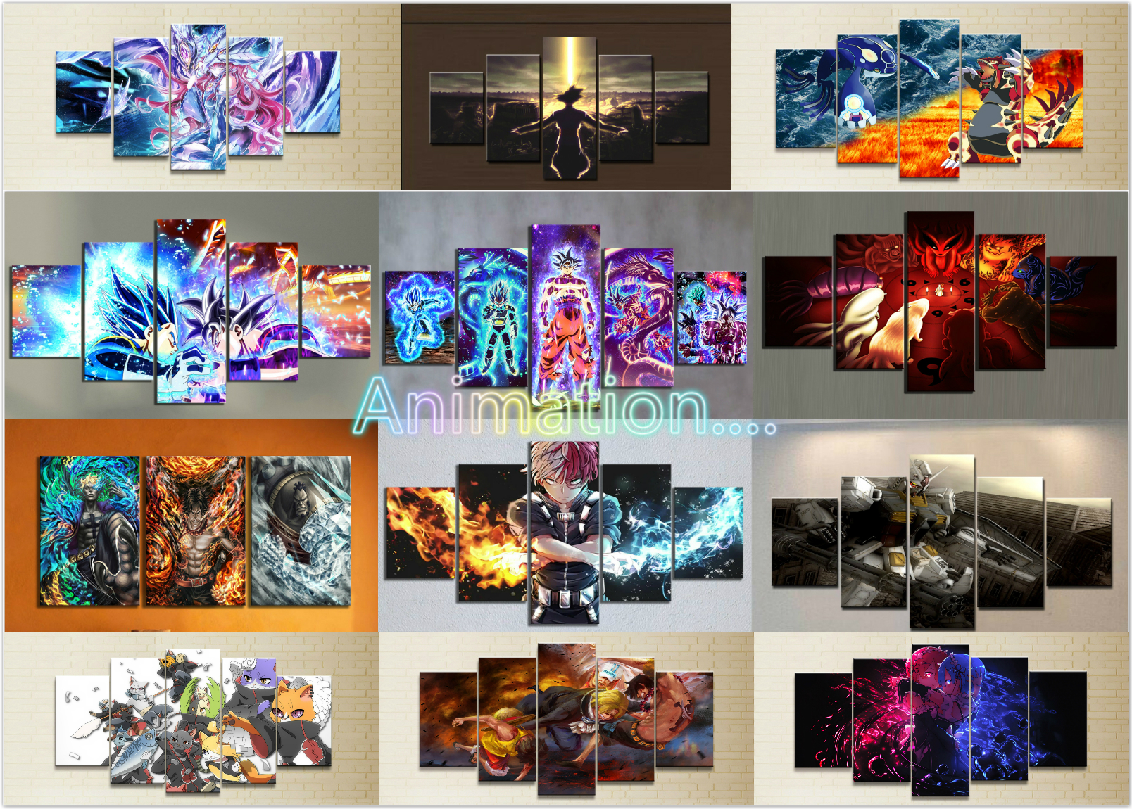 Home Decor Canvas 1 Piece Cute Sexy Anime My Hero Academia Dragon Ball Posters and Prints Painting Home Decoration Wall Pictures