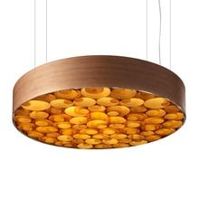 цена на JAXLONG Modern Color Wood Art LED Pendant Restaurant Hotel Cafe Bar Lighting Fixtures Bedroom Pendant Lamps Living Room Study
