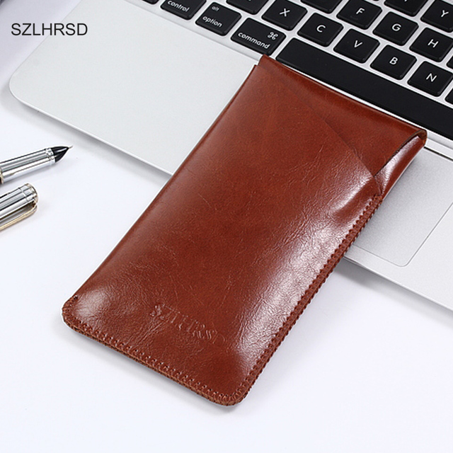 SZLHRSD for Oukitel Mix 2 super slim sleeve pouch cover, microfiber stitch case For Leagoo KIICAA Power /HomTom S7
