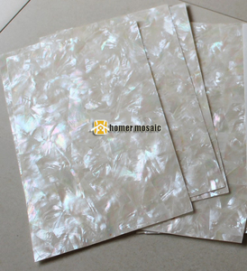AAA grade mosaic pattern white mother of pearl laminated sheets with coating shell paper jewelry furniture inlay guitar inlay