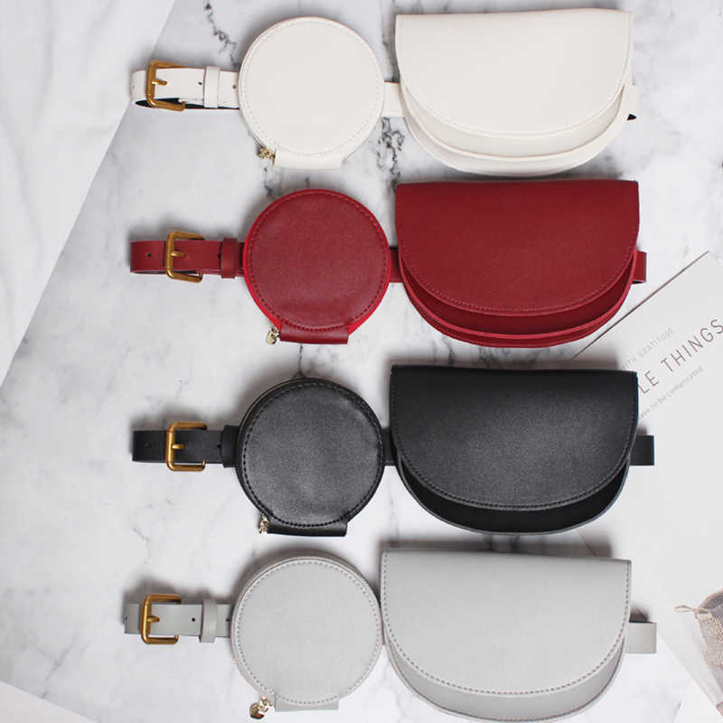 Waist Bag Women Fanny Packs Chest Handbag Leather Purse Fashion Small Phone Purse Suit Banana Female Belt Bag Womens Waist Bag