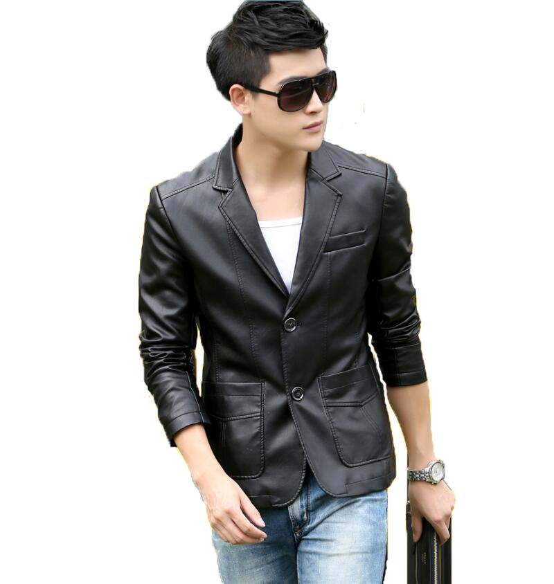 d98ebe82482 Motorcycle Jacket Men 2019 New Fashion Leather jacket men Leather jackets  Short Slim Leather Coat Male Leather Clothing Red