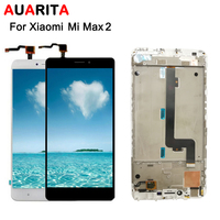 1pcs Lcd For XiaoMi MI MAX 2 LCD Display Touch Panel Screen Digitizer With Frame Assembly