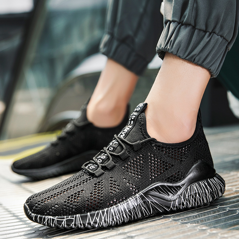 Summer Men Vulcanized Shoes Unisex Sneakers Flats Casual Footwear Male Lightweight Air Mesh Shoes Couple Shoes Tenis Masculino(China)