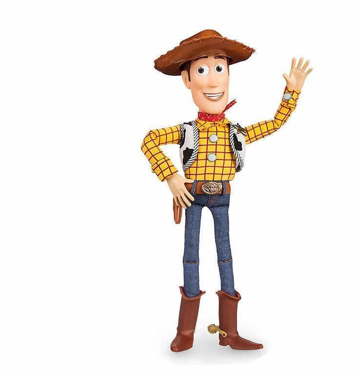 43cm 3 Falando Woody de Toy Story Toy Figuras de Ação Modelo Brinquedos Presente de Natal Das Crianças Frete Grátis venda quente