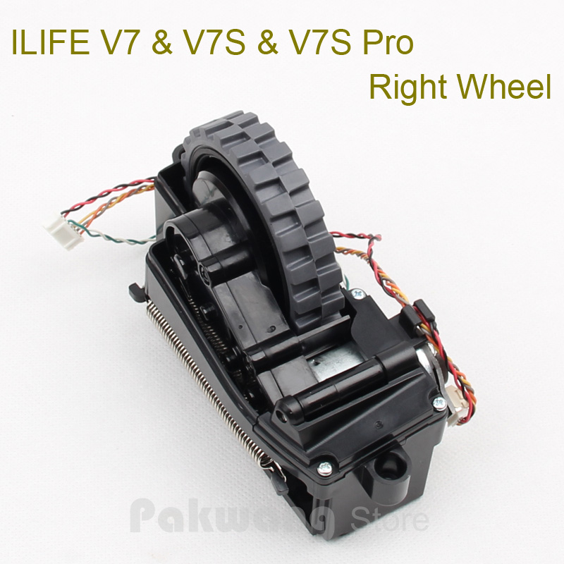 цена на Original ILIFE V7S V7 Right wheel 1 pc supply from factory ILIFE V7 V7S Vacuum Cleaner Spare parts