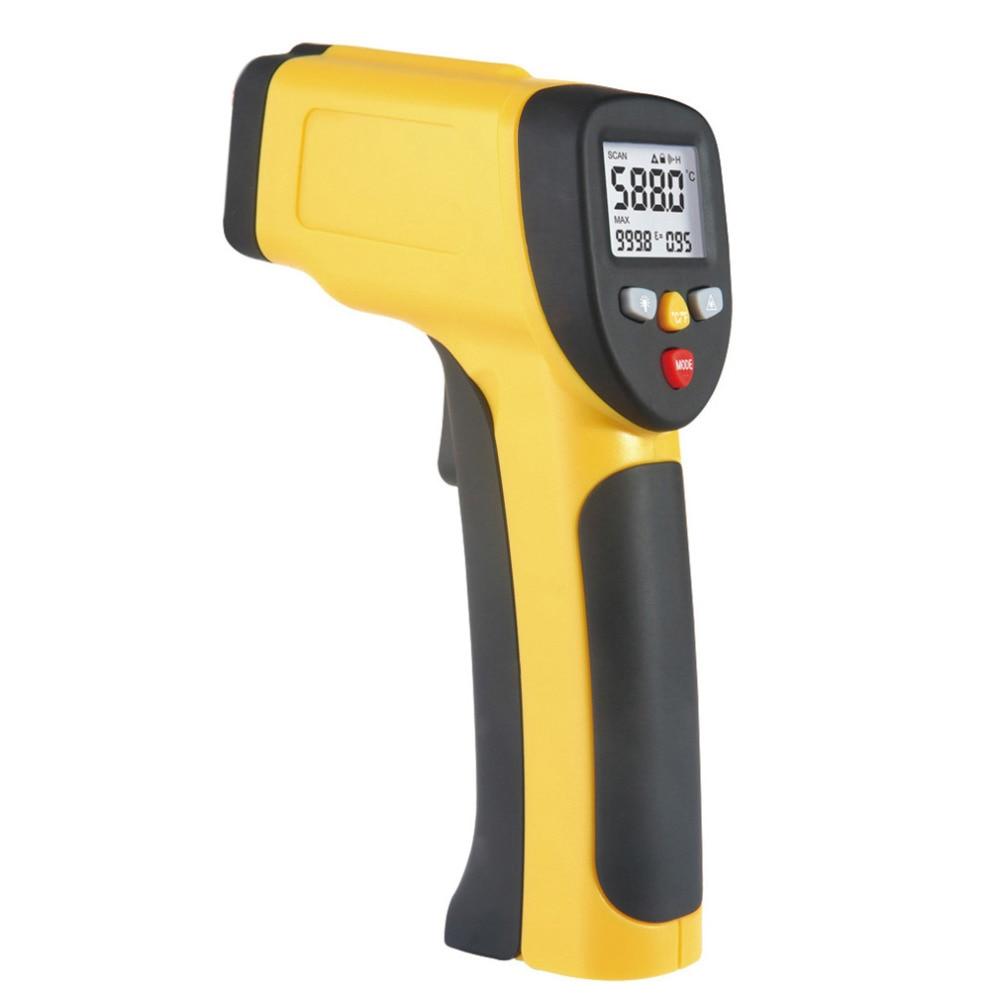 Многоцелевой Двойной лазерный ЖК-дисплей Дисплей ИК инфракрасный термометр-50 до 1050 градусов Цельсия Температура метр Сенсор HT-819