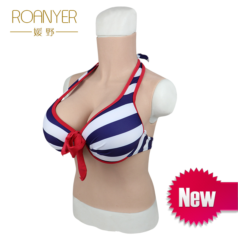Roanyer transgender crossdresser artificial silicone fake breast forms E Cup shemale Realistic crossdressing False Boobs