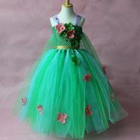 Fashion High Quality Handmade Crochet Formal Pageant Dresses For Baby Girls Green Ball Gowns