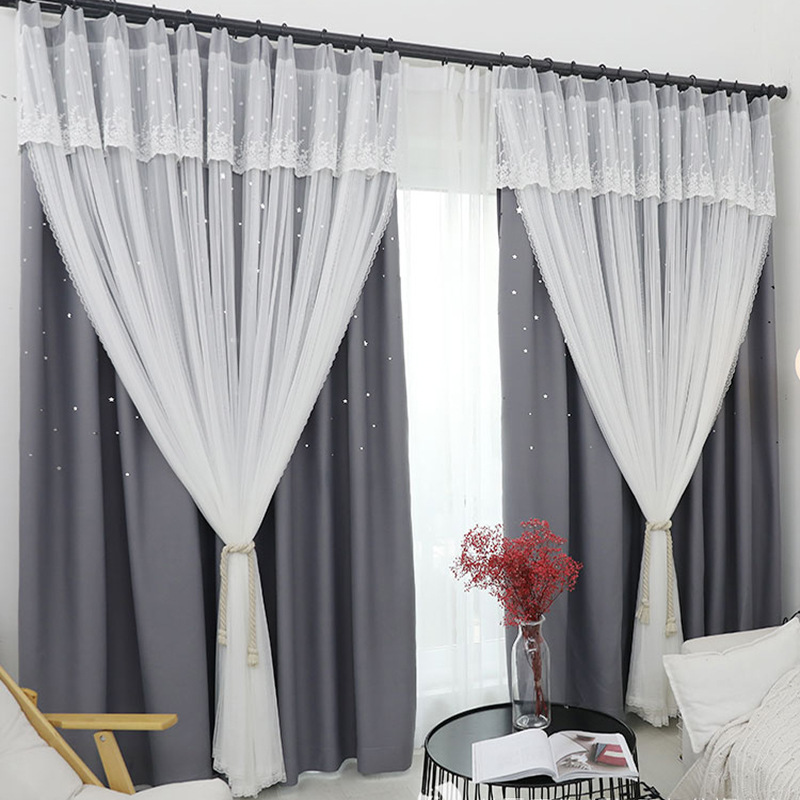 Korean Pastoral Window Fabric Special Short Curtains For Living