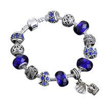 Мода DIY браслет с короной Форма австрийского хрусталя Бусины подходит Браслеты для Для женщин Pulseira ювелирные изделия подарок