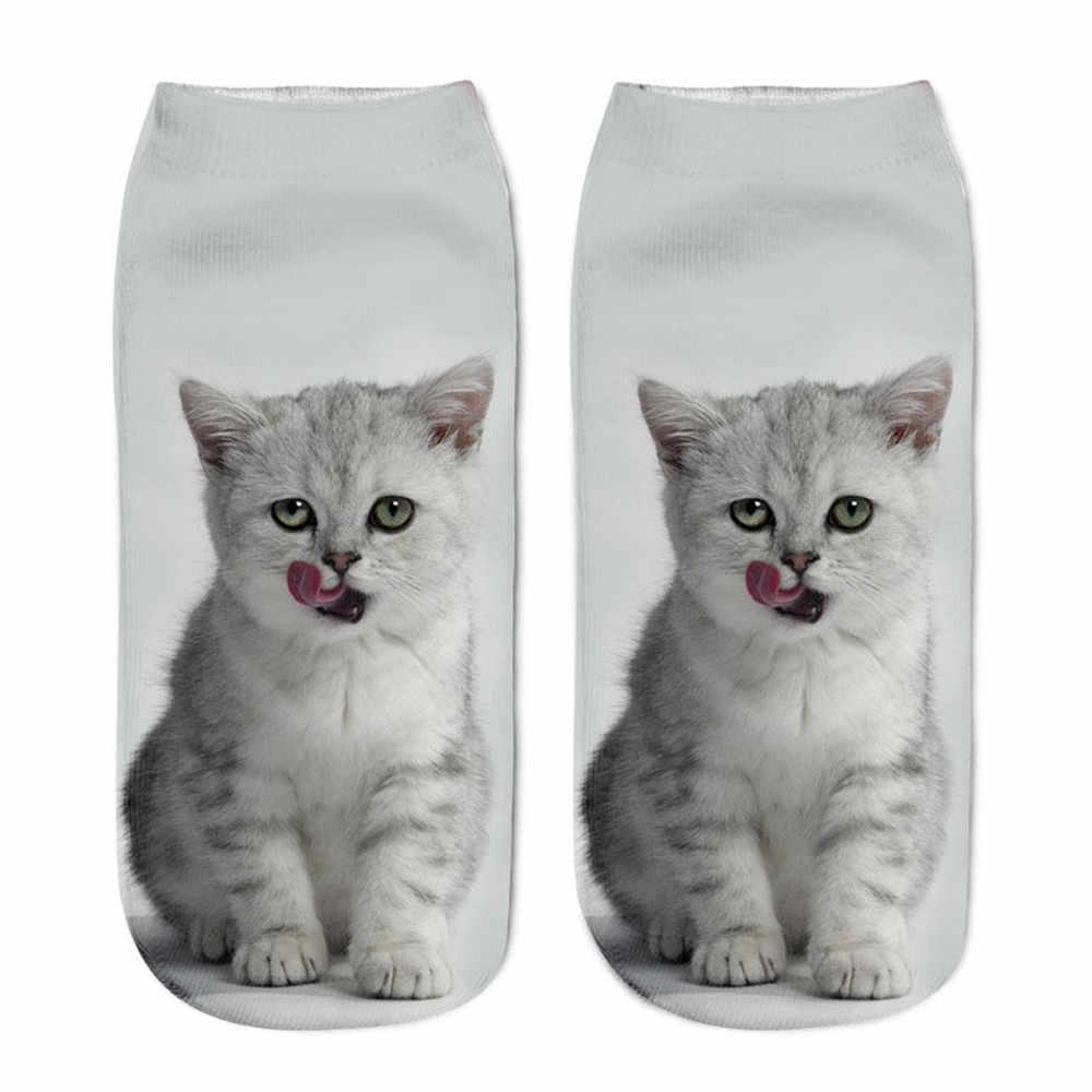 NoEnName_Null ถุงเท้าสัตว์น่ารักแฟชั่นผู้หญิงใหม่คุณภาพสูงและแฟชั่นแมวพิมพ์เข่าถุงเท้า PLUS ขนาด 3D สัตว์ถุงเท้า