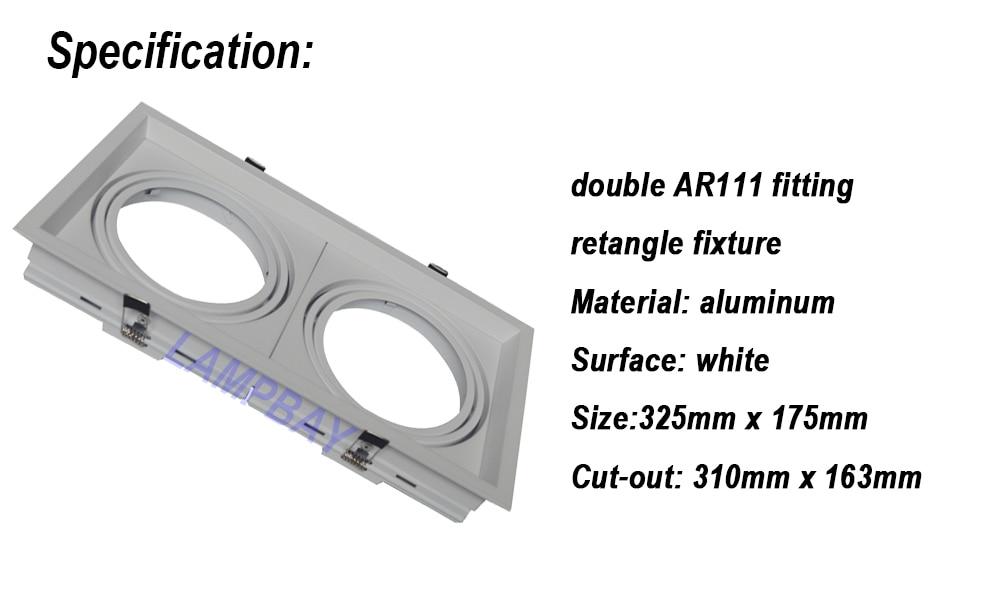 de aluminio rosto branco montagem conduziu luz da grade 02