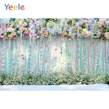 Yeele Color Flowers Curtain Wedding Scene Photography Background Princess Birthday Party Photographic Backdrop For Photo Studio